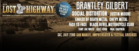 BRMC play the Lost Highway 2016 on July 23rd 1