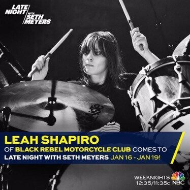 Leah on Late Night with Seth Meyers January 16th - 19th 1
